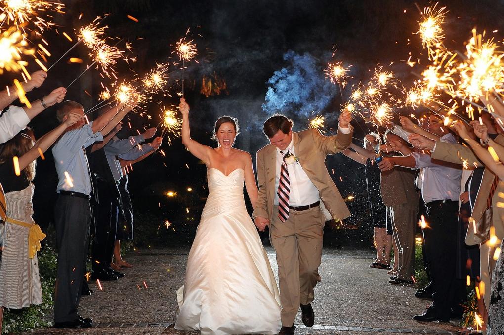 Wedding Sparkler Departure by Patrick Hall
