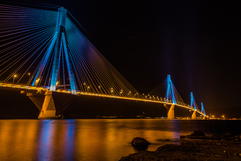Rio–Antirrio bridge by Vasilis Christou