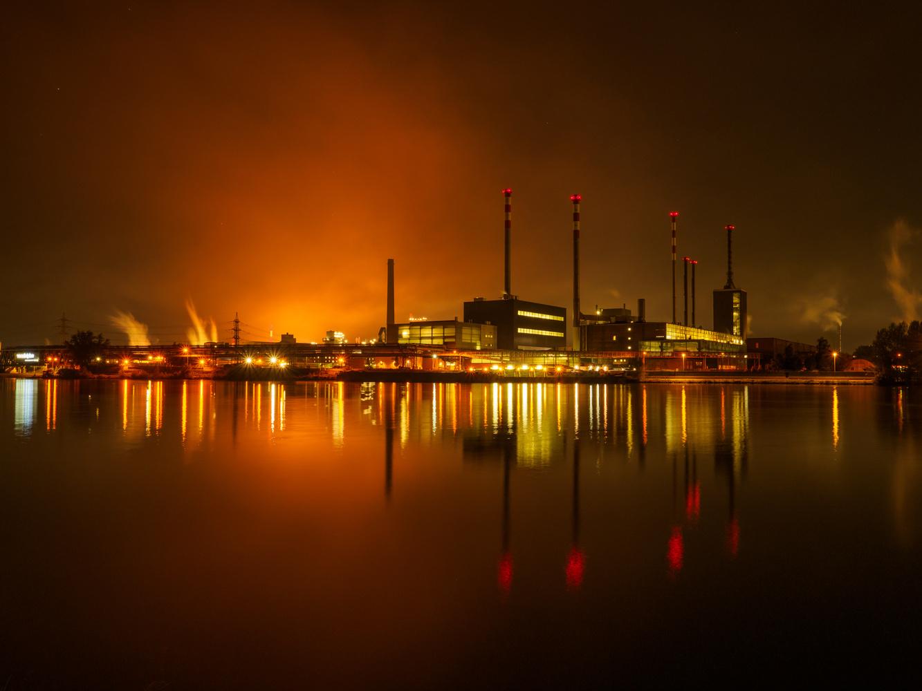 Steel Industry Power Station orange version by Wolfgang Hackl