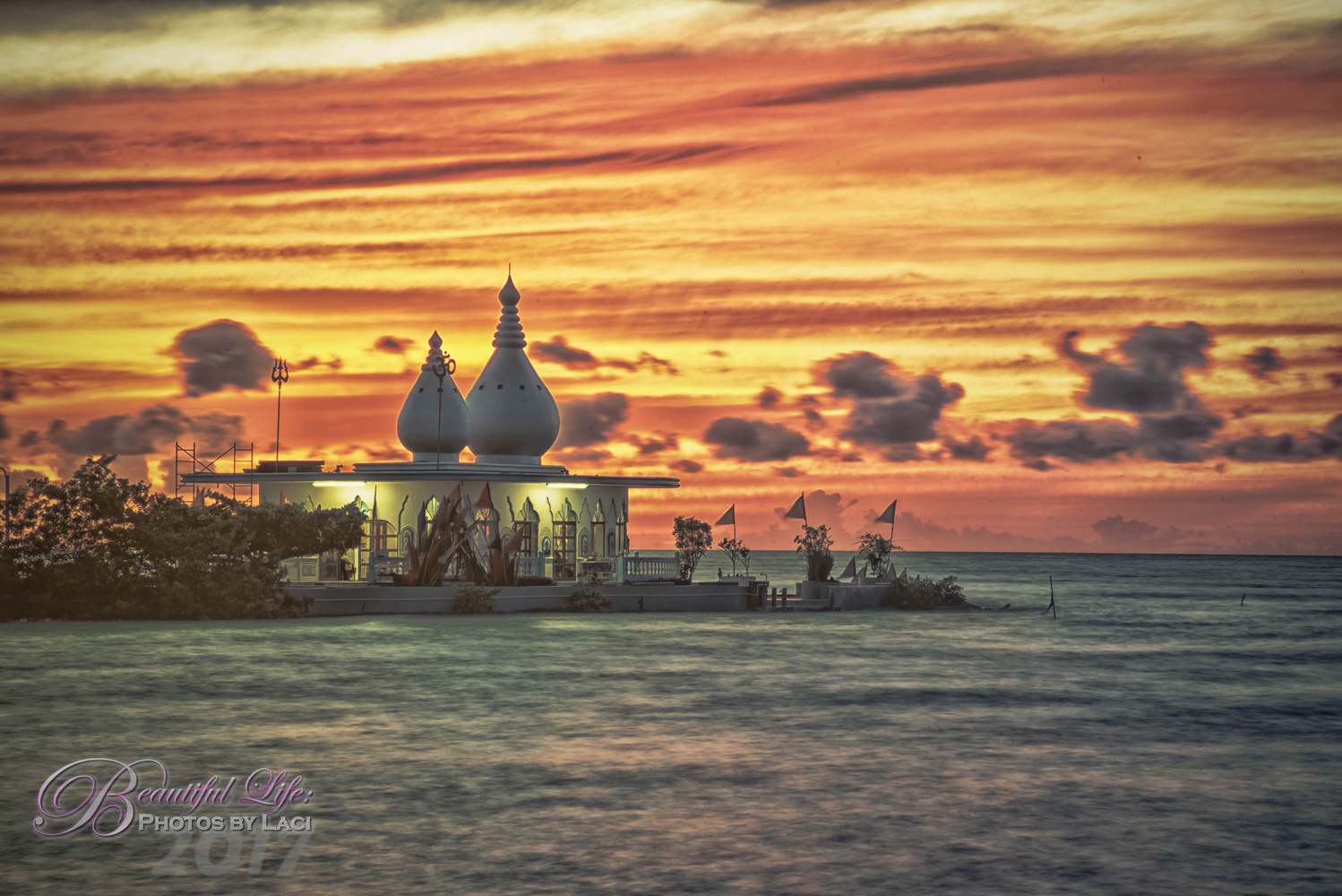 Temple in the sea  by Laci Meixner