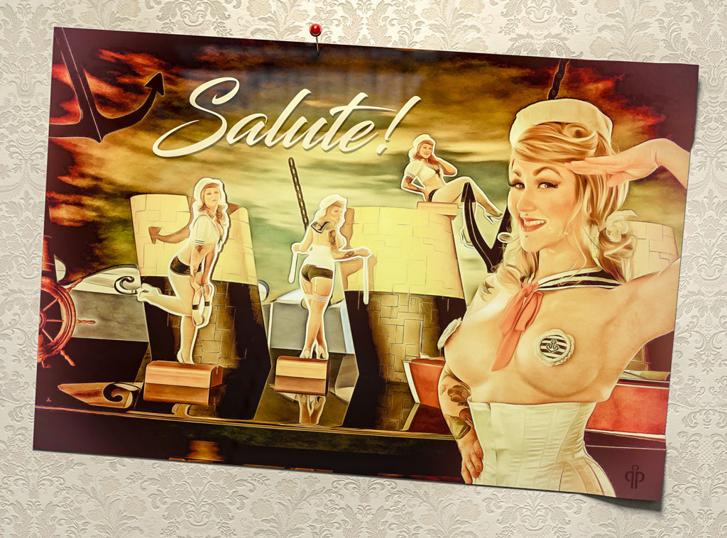 Salute! A pinup cruise ... by pelle piano