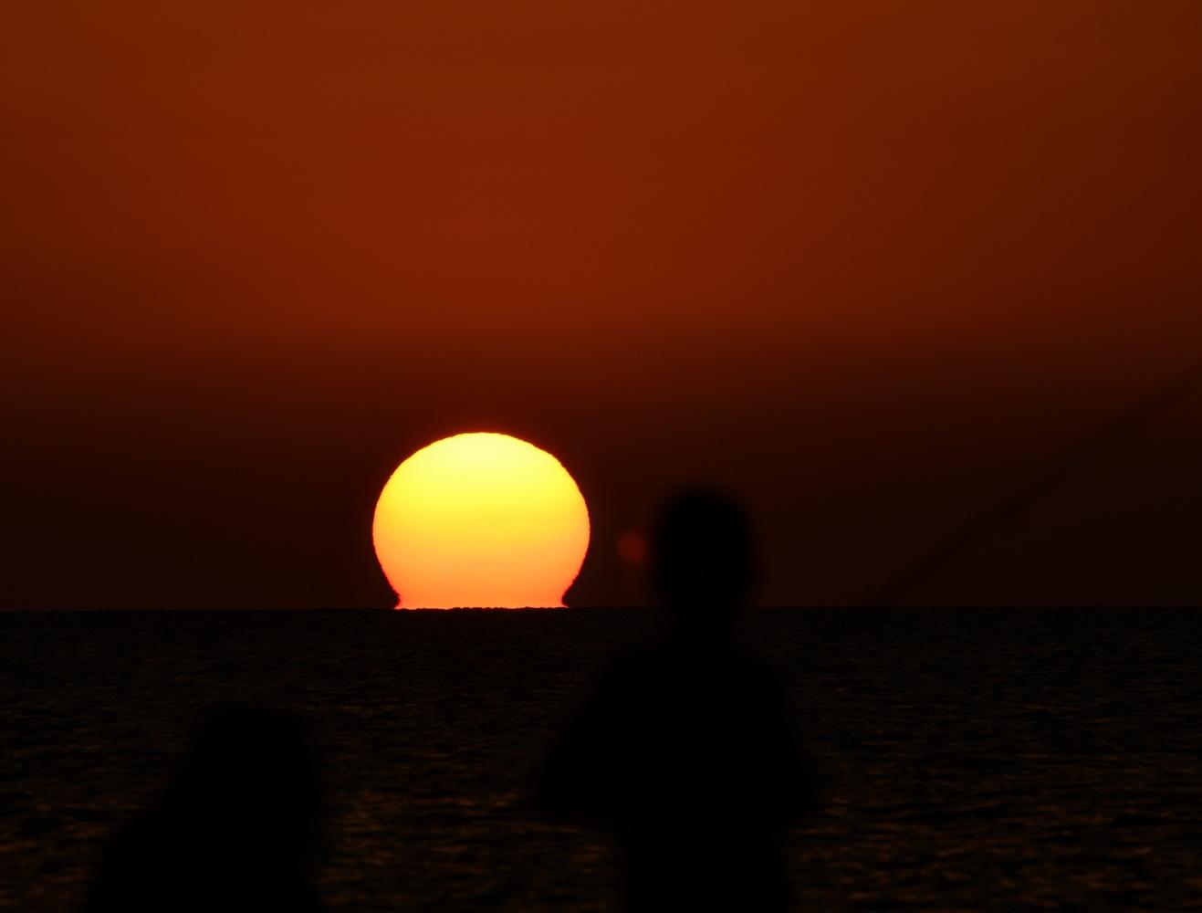 Sunset on Mediterranean by shraga kopstein