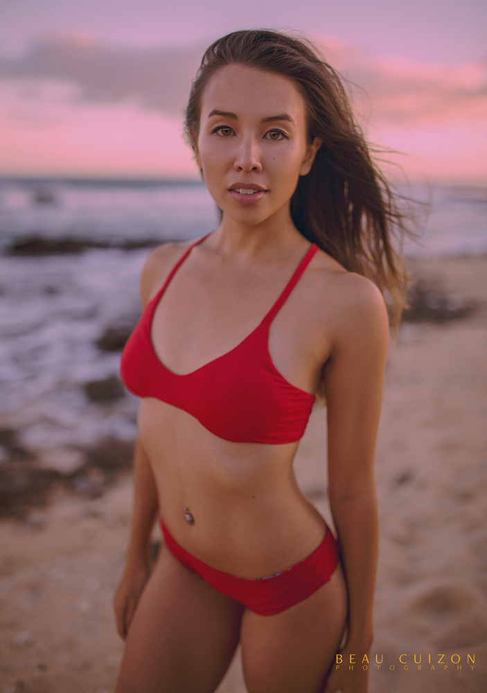 Aly in Red by Beau Cuizon