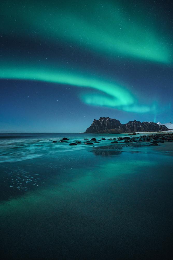 Uttakleiv aurora by Kai Hornung