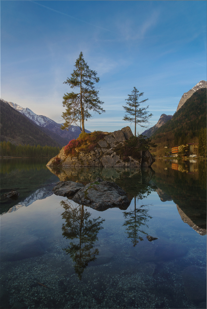 Hintersee reflection by Kai Hornung