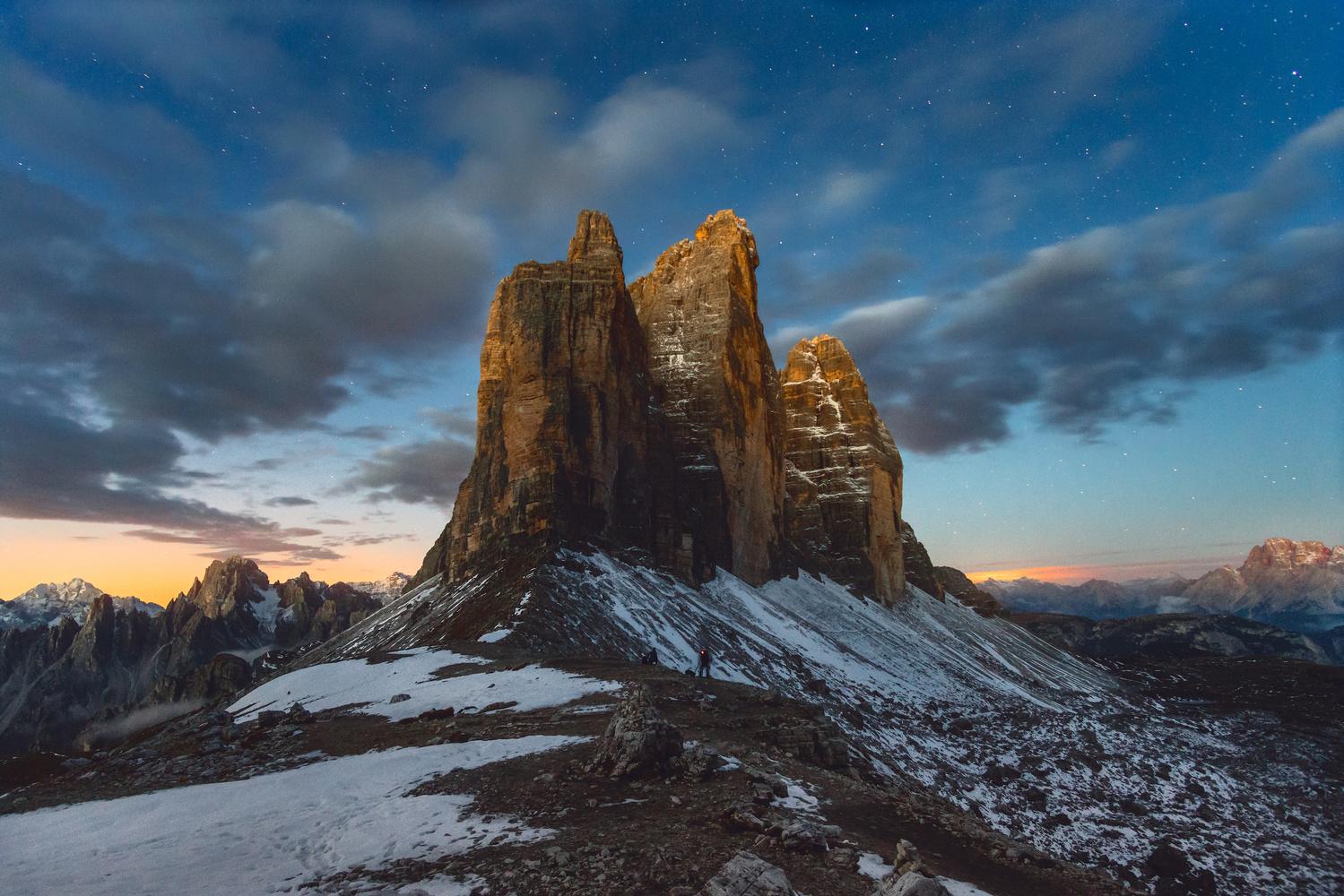 Tre Cime sunrise by Kai Hornung