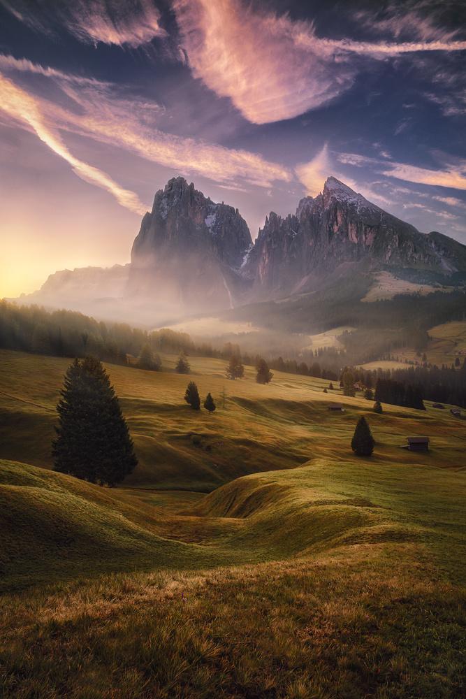 Alpe di Siusi sunrise by Kai Hornung