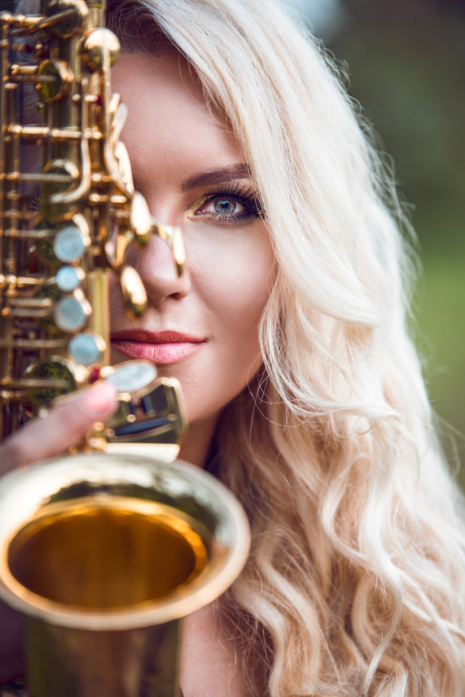 The Saxophonist  by Asoka Edussooriya