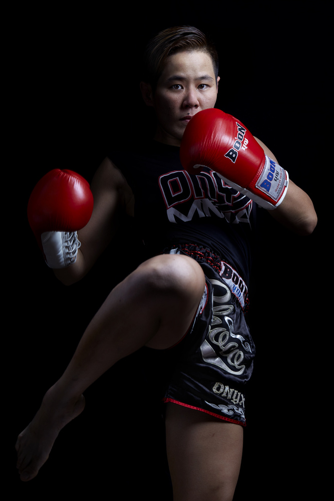 Muai thai fighter by Stanislas Dorange