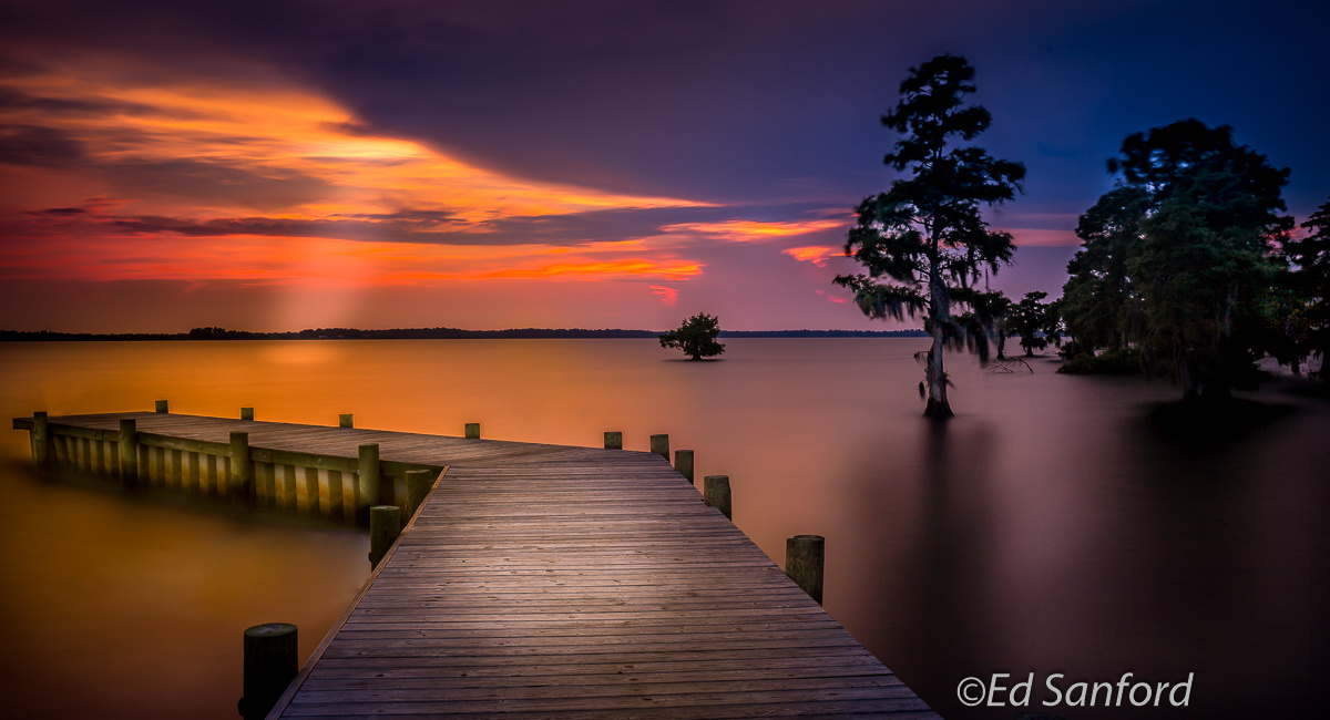 Summer Evening on The Chowan by Ed Sanford