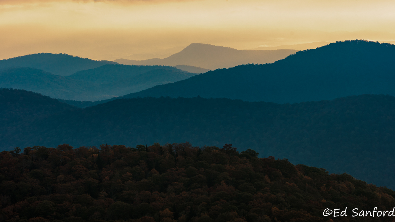 Morning in the Blue Ridge by Ed Sanford