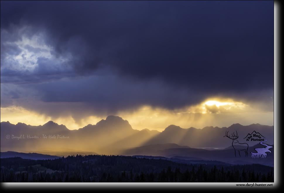Grand Teton Storm  by Daryl Hunter