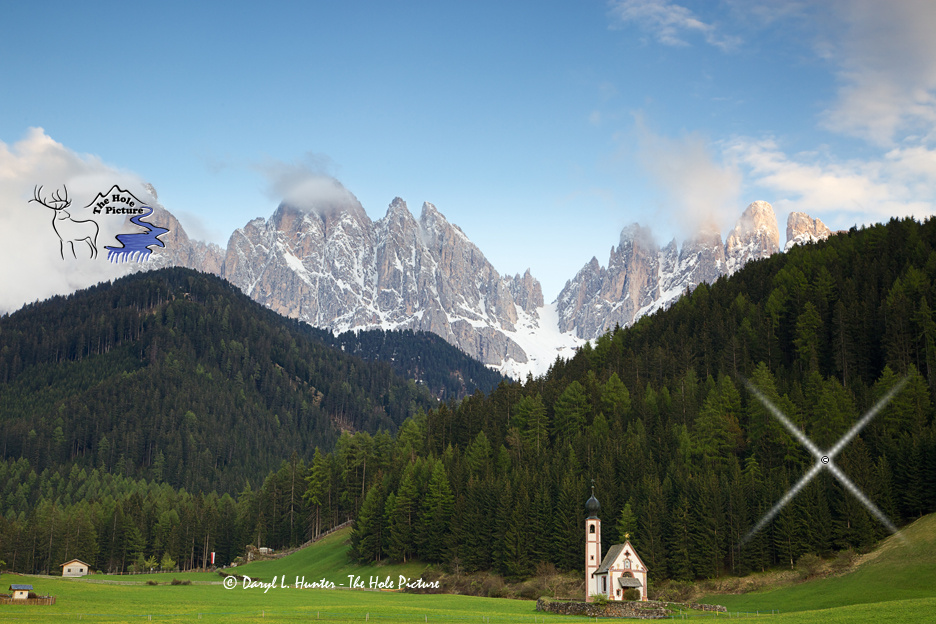 Church, Dolomite Mountains by Daryl Hunter