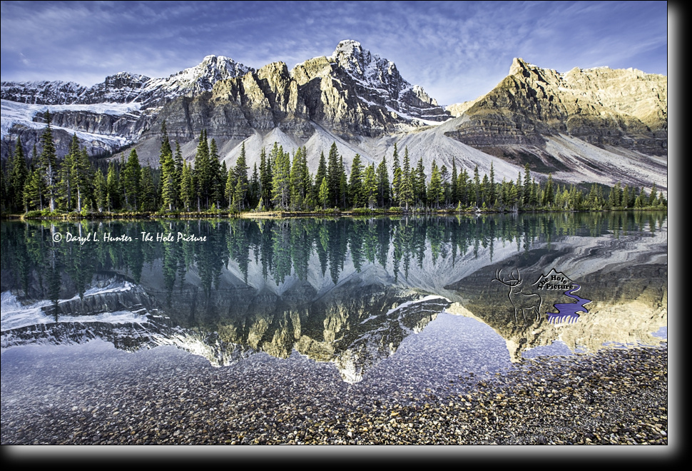 Bow Lake Reflection by Daryl Hunter