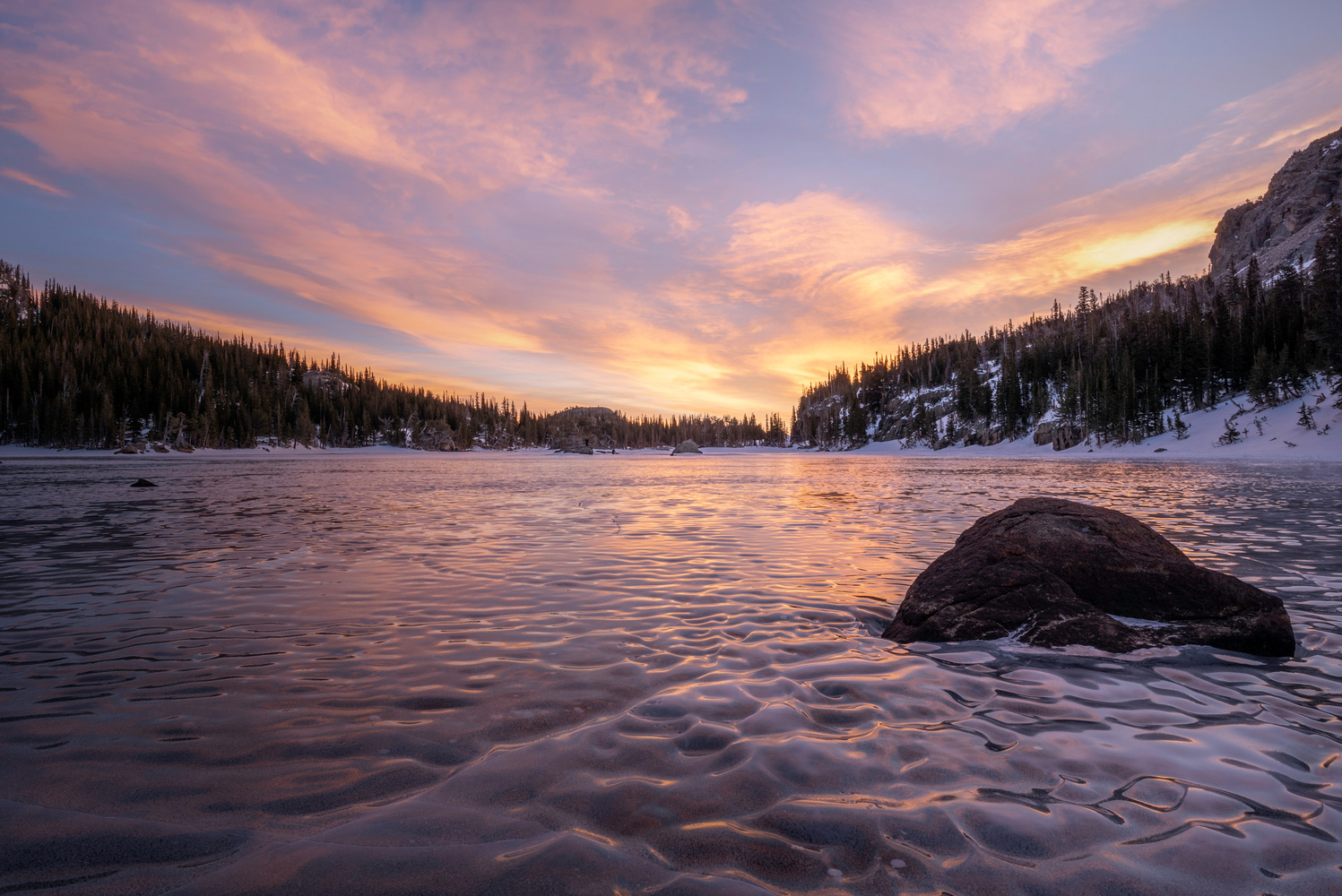 Sunrise at The Loch - Rocky Mountain National Park by Dave Spates