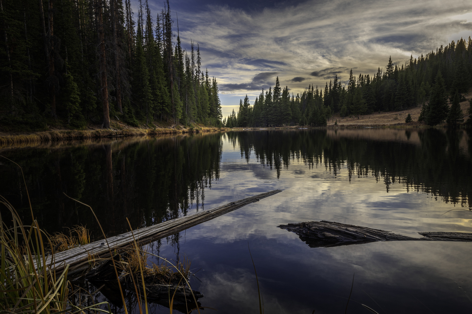 Sunset reflections on Alpine Lake by Dave Spates