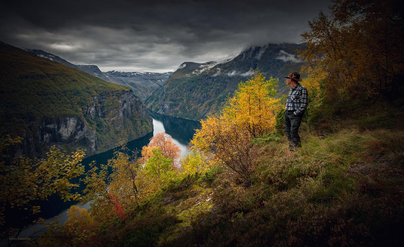 View on Geirangerfjord by Wim Lassche