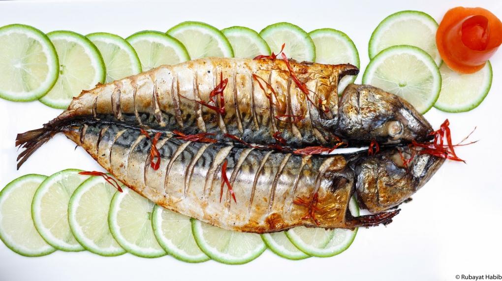 Grilled Whole Mackerel 고등어구이 by Rubayat Habib
