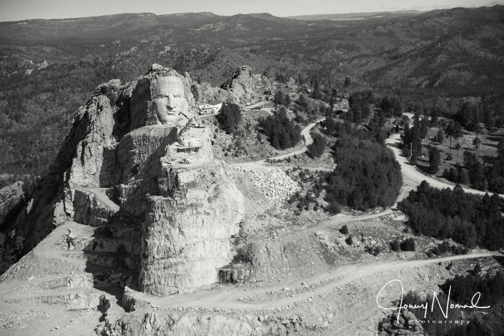 Crazy Horse overlooking South Dakota by Jon Magill