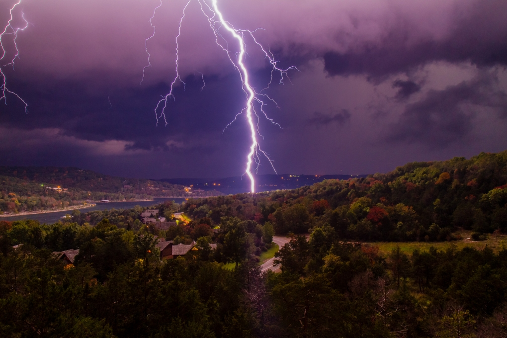 Fall Thunderstorm by Bo Bickley