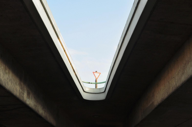 Sign on bridge by Bernd Hauptvogel