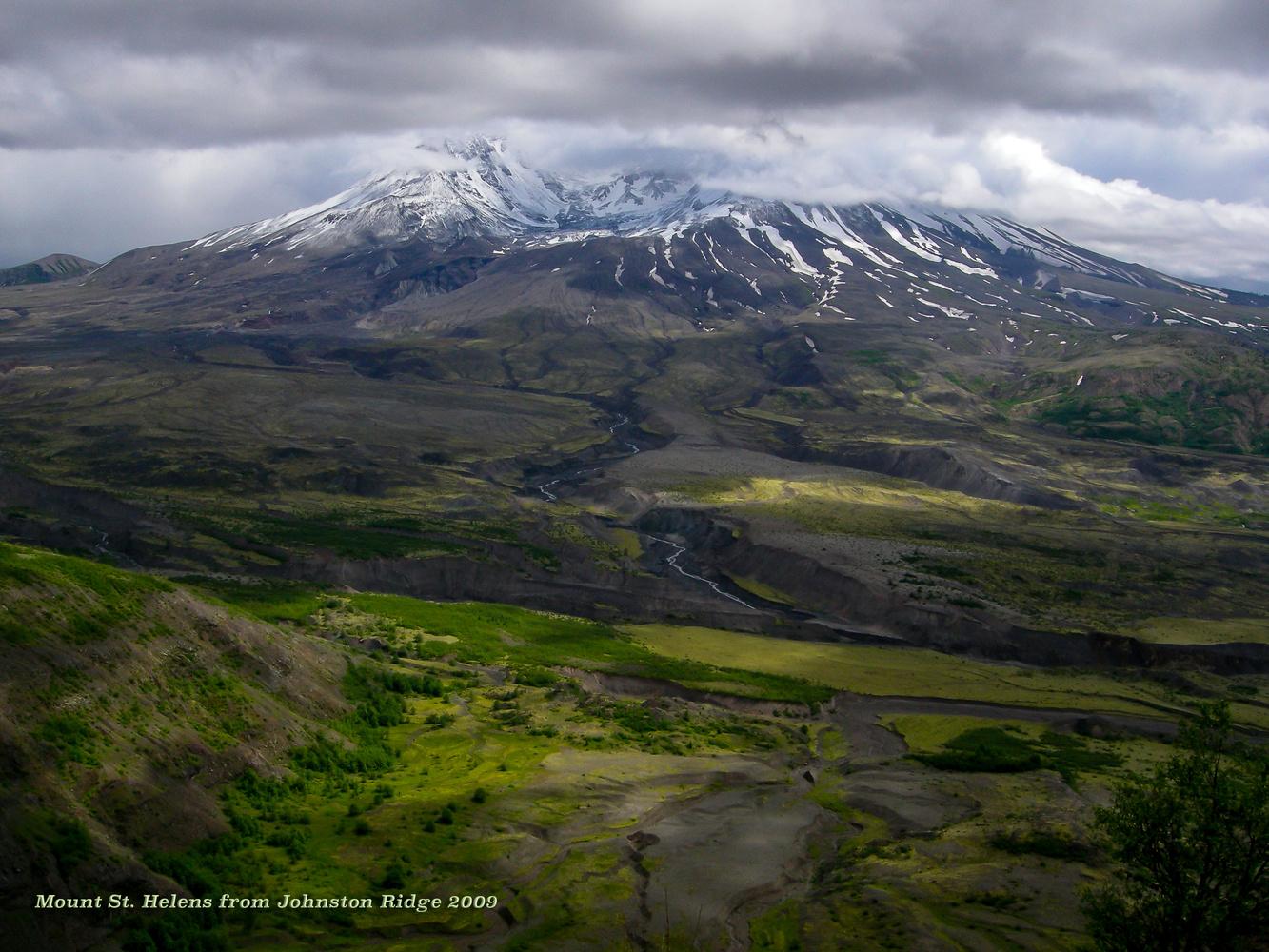 Break in the Clouds, Mount St Helens, Washington by Charles Haacker