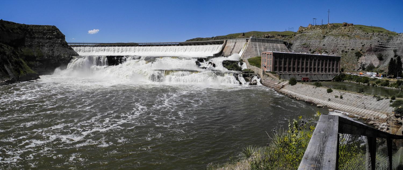 Ryan Dam on the Great Falls of the Missouri, Montana by Charles Haacker