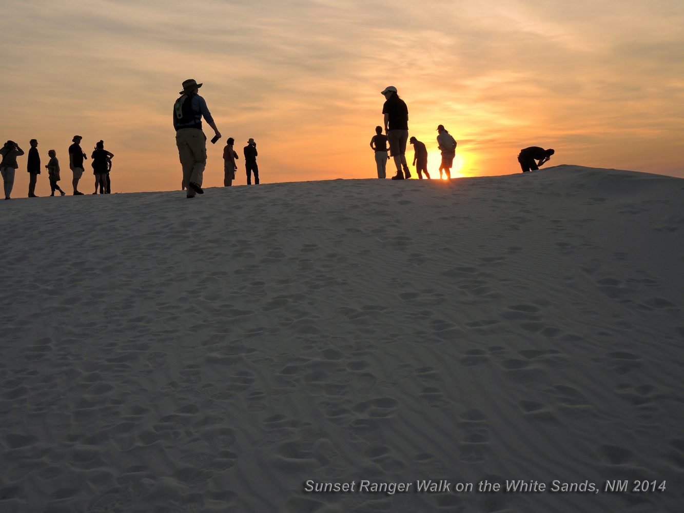 Sunset Ranger Walk, White Sands, New Mexico by Charles Haacker