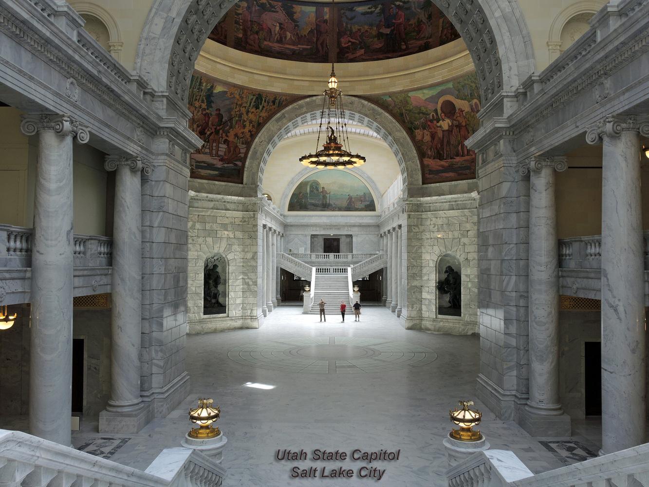 Interior, Utah State Capitol, Salt Lake City, Utah by Charles Haacker