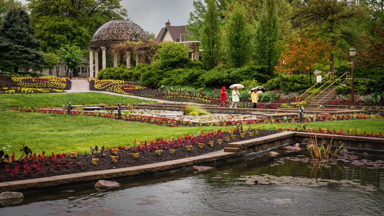 Sunken Gardens in Drizzle, Lincoln NE by Charles Haacker