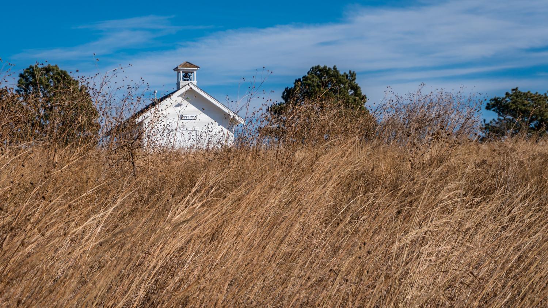 Little Schoolhouse on the Tallgrass Prairie by Charles Haacker