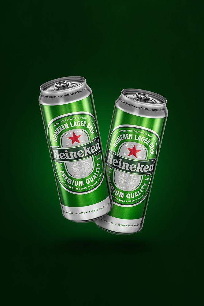 Heineken Cans by Juriy Kolokolnikov