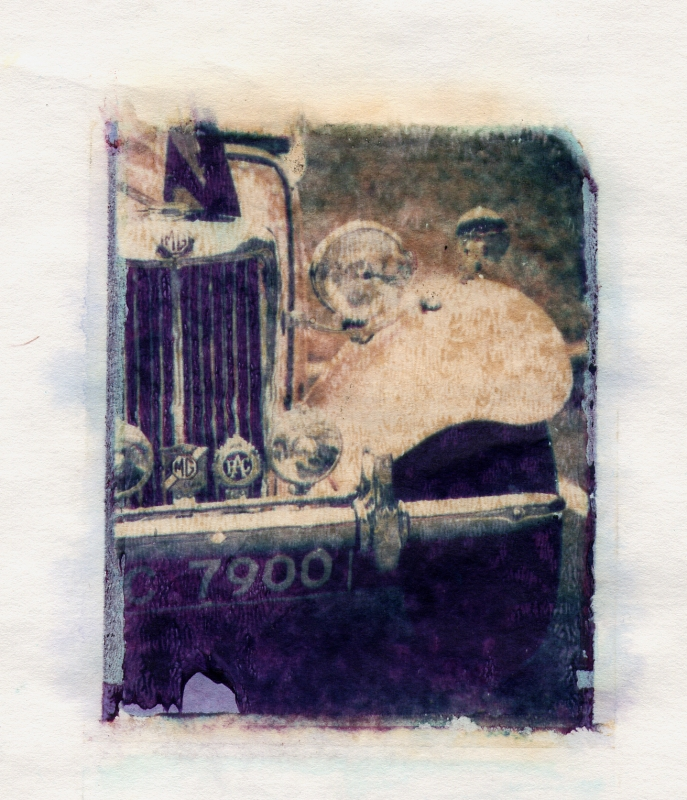 MG polaroid transfer by Peter Roos