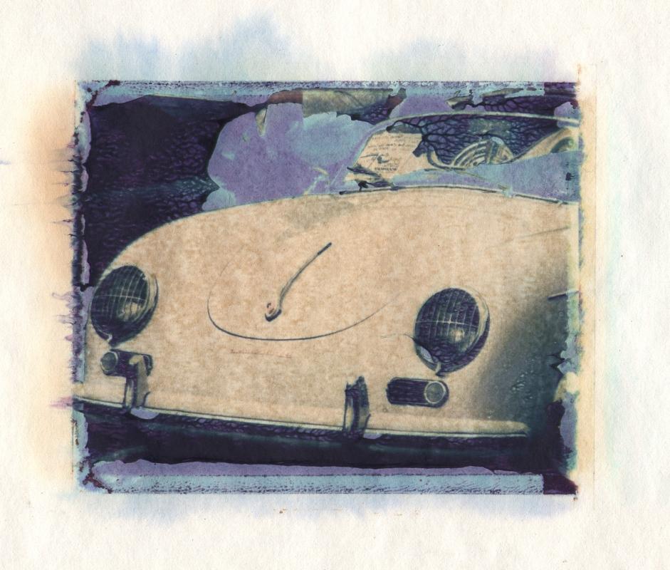 Porsche polaroid transfer by Peter Roos