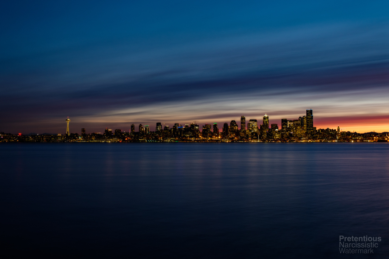 Downtown from West Seattle 2 by JetCity Ninja