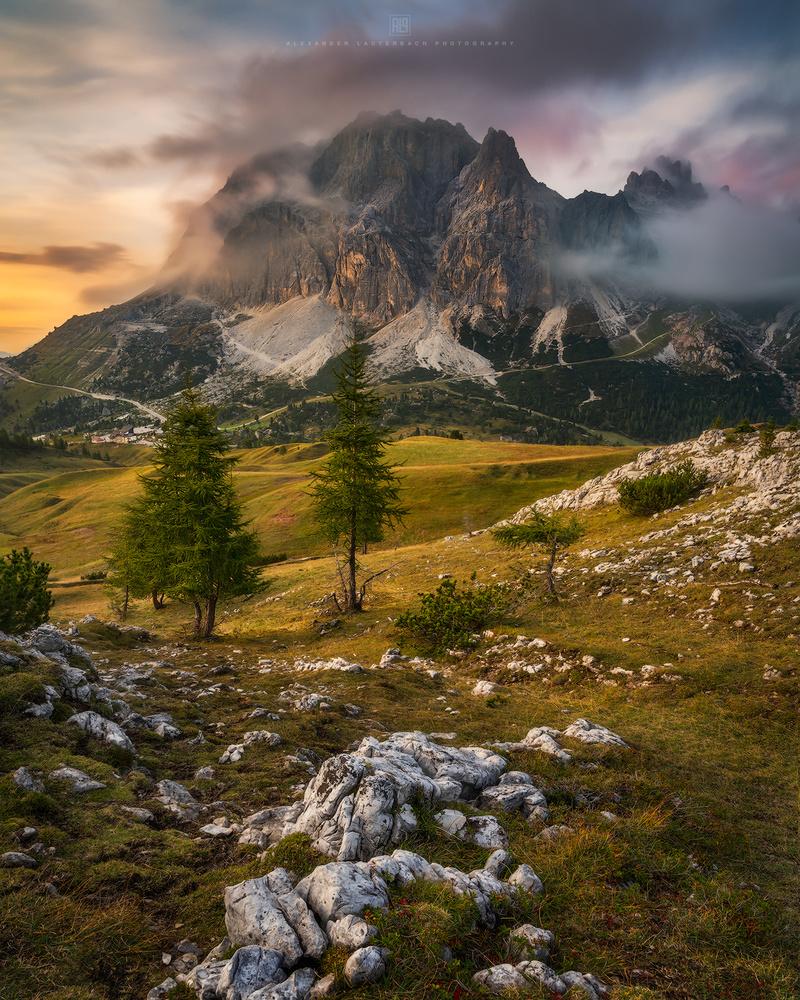 Sunset at Passo di Falzarego by Alexander Lauterbach