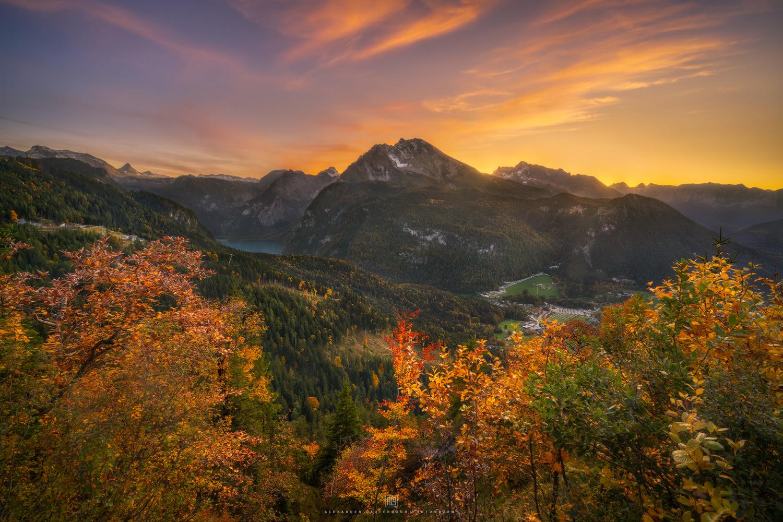 Berchtesgaden autumn sunset by Alexander Lauterbach