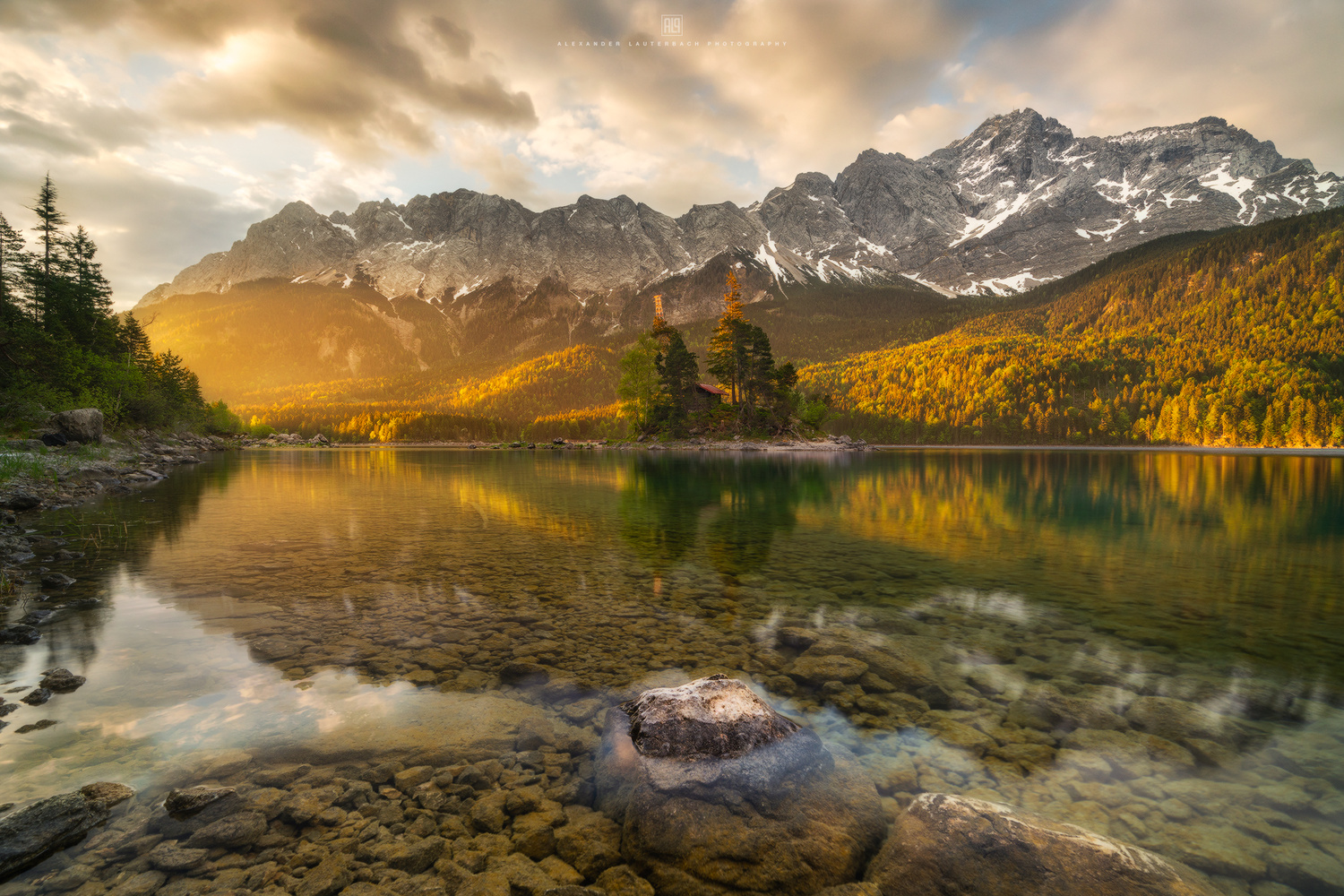 Sunrise at Lake Eibsee by Alexander Lauterbach