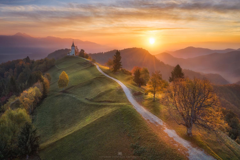 Golden Morning in Slovenia by Alexander Lauterbach
