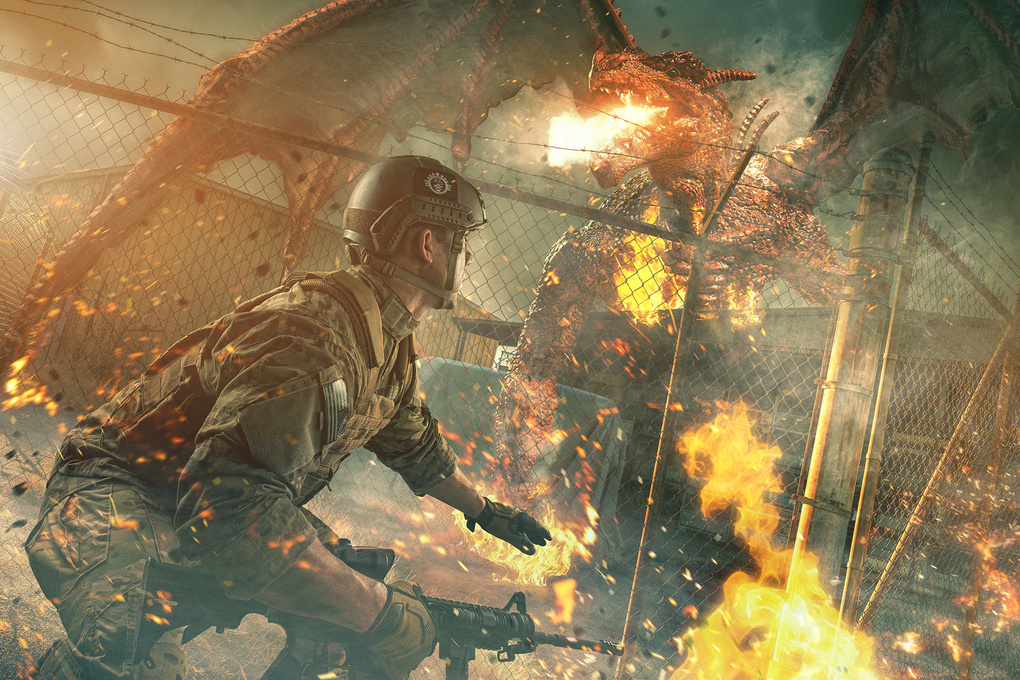 Dragon Firefight by Brandon Cawood