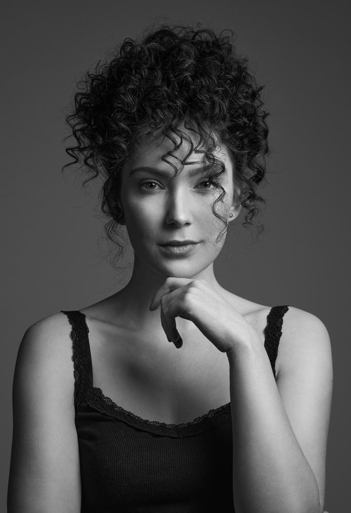 Black and white portrait by Jan Kruize