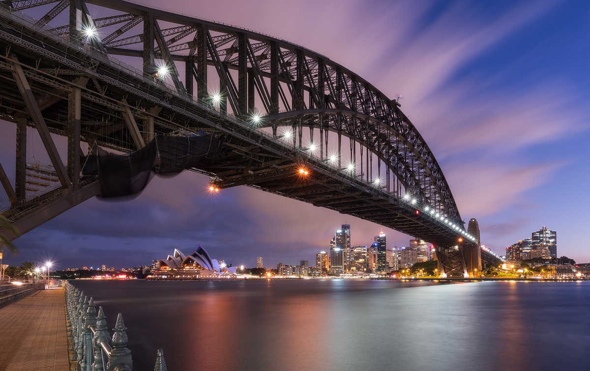 Sydney under the Bridge by Celso Mollo