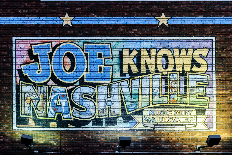 Nashville Wall Mural by Wael Hassan