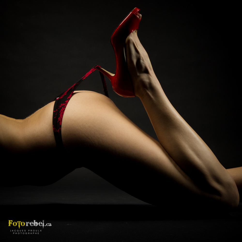 Red shoes by Jacques Proulx