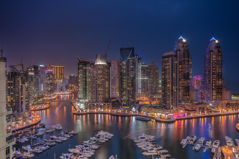 Dubai marina (City on Water) by Saim Aslam