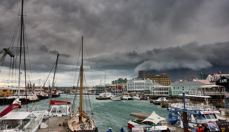 View over Cape Town Marina Bay by David Karel