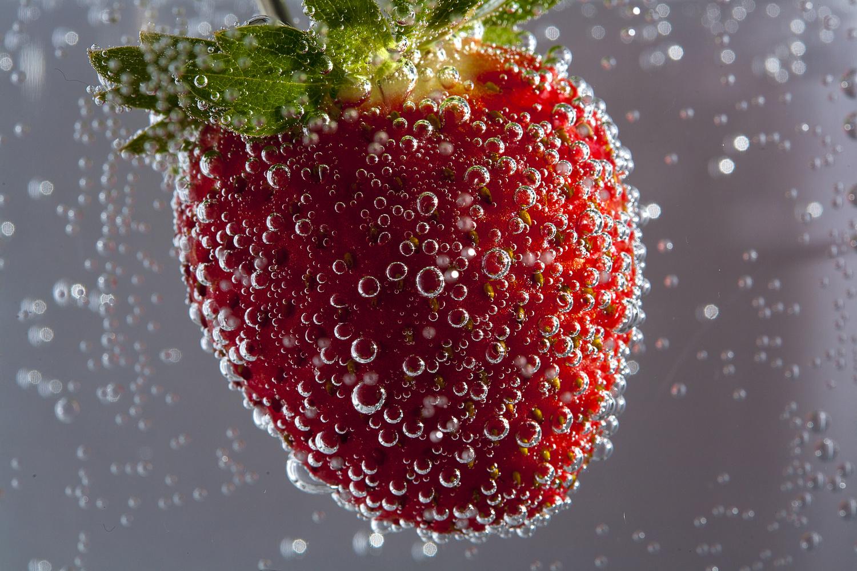 Strawberry & bubbles by Steve Bazley