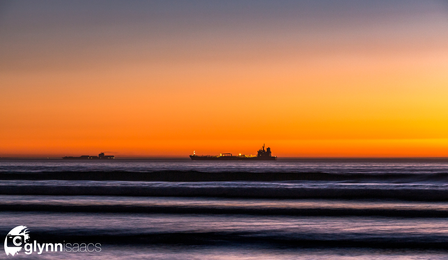 Sailing into the night by Glynn Isaacs