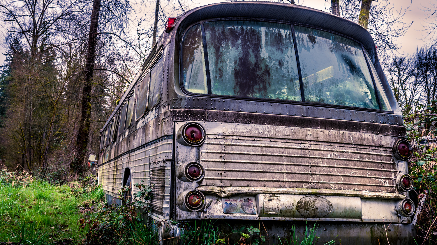 An Abandoned Bus by Harry Grewal