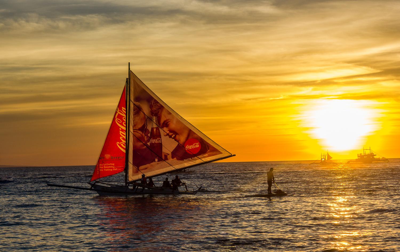 Boracay Sunset by Marlon Malabuyoc